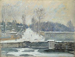 The Watering Place at Marly-le-Roi, c.1875 von Alfred Sisley | Gemälde-Reproduktion
