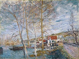 Flood at Moret, 1879 by Alfred Sisley | Painting Reproduction
