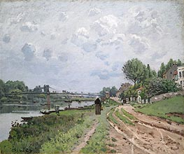 The Bridge at Villeneuve-La-Garenne, 1872 by Alfred Sisley | Painting Reproduction