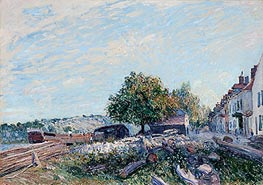 Saint Mammès - Morning, 1884 by Alfred Sisley | Painting Reproduction