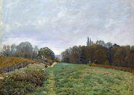 Landscape at Louveciennes, 1873 by Alfred Sisley | Painting Reproduction