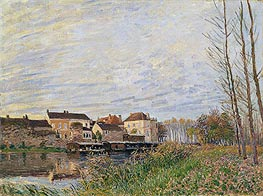 Evening in Moret, End of October, 1888 by Alfred Sisley | Painting Reproduction
