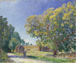 A Forest Clearing, 1895 by Alfred Sisley | Painting Reproduction
