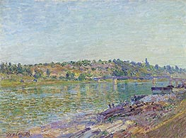 The slopes of the Celle-Sous-Moret, seen from St. Mammes, 1884 von Alfred Sisley | Gemälde-Reproduktion