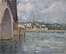 The Bridge of St. Cloud, 1877 by Alfred Sisley | Painting Reproduction