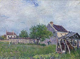 The Old Cottage at Sablons, 1885 by Alfred Sisley | Painting Reproduction