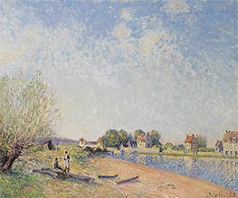 The Canal of Loing at Saint-Mammes, 1885 by Alfred Sisley | Painting Reproduction