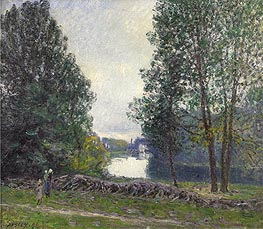 Banks of the Loing, 1896 by Alfred Sisley | Painting Reproduction