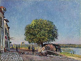 The Chestnut in St. Mammès, 1880 by Alfred Sisley | Painting Reproduction