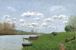 The Seine at Argenteuil, c.1870 by Alfred Sisley | Painting Reproduction
