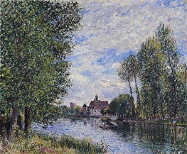 Summer at Moret, 1888 by Alfred Sisley | Painting Reproduction