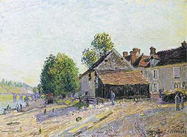 Landscape near Moret, 1884 by Alfred Sisley | Painting Reproduction
