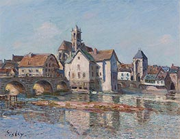 The Bridge at Moret, 1892 by Alfred Sisley | Painting Reproduction