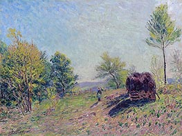 Woods in Spring, 1886 by Alfred Sisley | Painting Reproduction