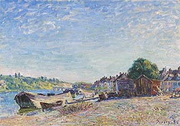 The Banks of the Loing at Saint-Mammès, 1885 by Alfred Sisley | Painting Reproduction
