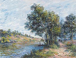 Path to Veneux, the Slopes of the Celle, 1881 by Alfred Sisley | Painting Reproduction