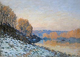 Port Marly, Hoarfrost, 1872 by Alfred Sisley | Painting Reproduction