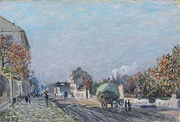 A Street in Marly, undated by Alfred Sisley | Painting Reproduction