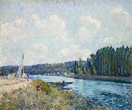 The Banks of the Oise | Alfred Sisley | Painting Reproduction