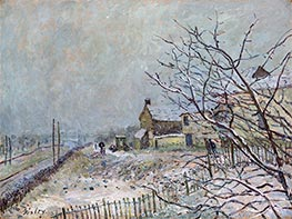 First Snow at Veneux-Nadon, 1878 by Alfred Sisley | Painting Reproduction