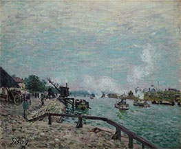 Seine at Grenelle, 1878 by Alfred Sisley | Painting Reproduction