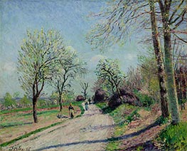 Road from Veneux to Moret - Spring Day, 1886 by Alfred Sisley | Painting Reproduction