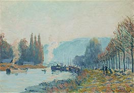 Seine at Bougival, 1873 by Alfred Sisley | Painting Reproduction