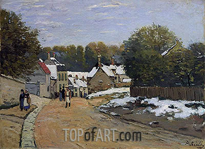 Early Snow at Louveciennes, c.1870/71 | Alfred Sisley | Gemälde Reproduktion