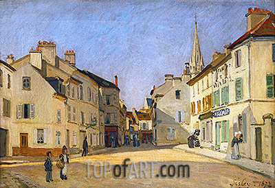 Square in Argenteuil (rue de la Chaussee), 1872 | Alfred Sisley | Painting Reproduction