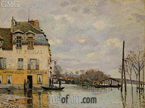 Flood at Port-Marly, 1872 | Alfred Sisley | Painting Reproduction