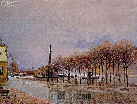 The Flood at Port-Marly, 1872 | Alfred Sisley | Painting Reproduction