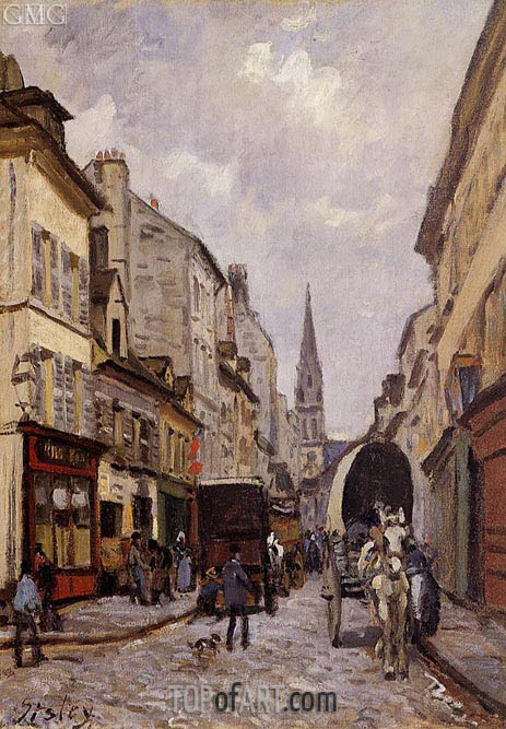 La Grande-Rue, Argenteuil, c.1872 | Alfred Sisley | Painting Reproduction