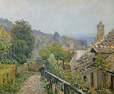 Louveciennes or, The Heights at Marly, 1873 | Alfred Sisley | Painting Reproduction