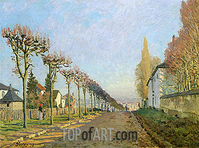 Rue de la Machine, Louveciennes, 1873 | Alfred Sisley | Painting Reproduction