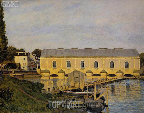 The Machine at Marley, 1873 | Alfred Sisley | Painting Reproduction