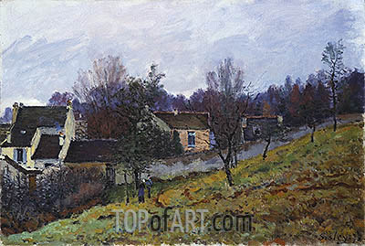 Autumn at Louveciennes, 1873 | Alfred Sisley | Painting Reproduction