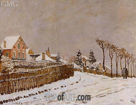 Snow at Louveciennes, 1873   Alfred Sisley   Painting Reproduction