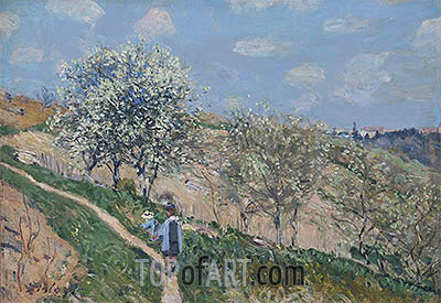 Spring in Bougival, c.1873 | Alfred Sisley | Painting Reproduction