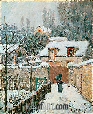 Snow at Louveciennes, 1874   Alfred Sisley   Painting Reproduction