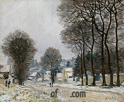 Snow at Louveciennes, c.1874 | Alfred Sisley | Painting Reproduction