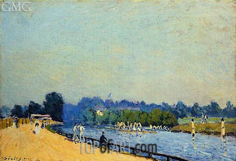 The Road from Hampton Court, 1874 | Alfred Sisley | Painting Reproduction