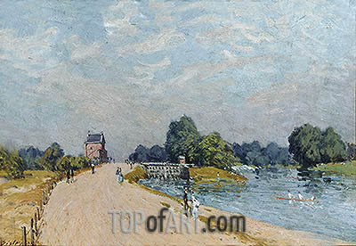 The Road to Hampton Court, 1895 | Alfred Sisley | Painting Reproduction