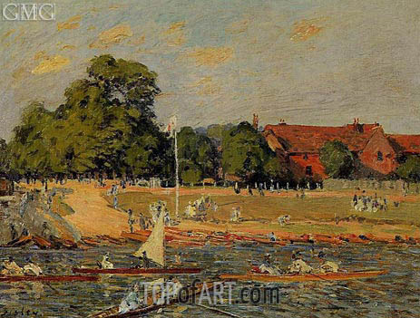 Retatta at Hampton Court, 1874 | Alfred Sisley | Painting Reproduction