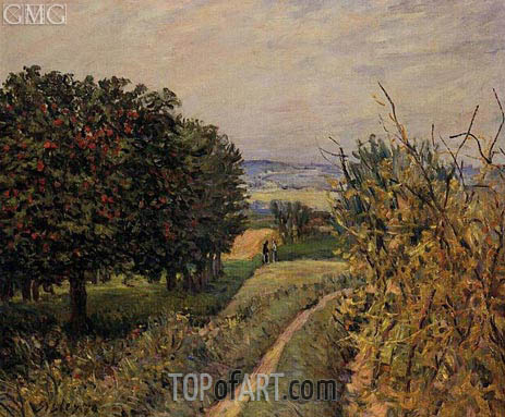 Among the Vines, 1874 | Alfred Sisley | Painting Reproduction