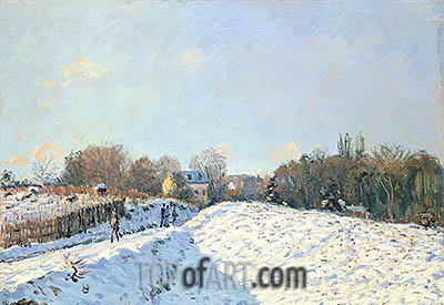 Effect of Snow at Argenteuil, 1874 | Alfred Sisley | Painting Reproduction