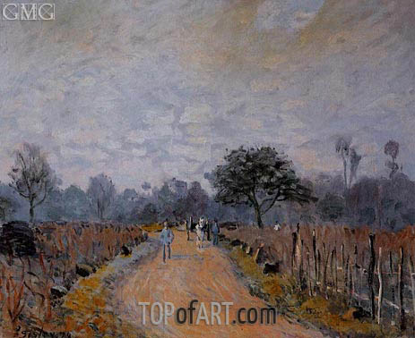 The Road from Prunay to Bougival, 1874   Alfred Sisley   Painting Reproduction
