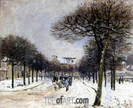 The Road to Saint-Germain at Marly, c.1874/75 | Alfred Sisley | Painting Reproduction