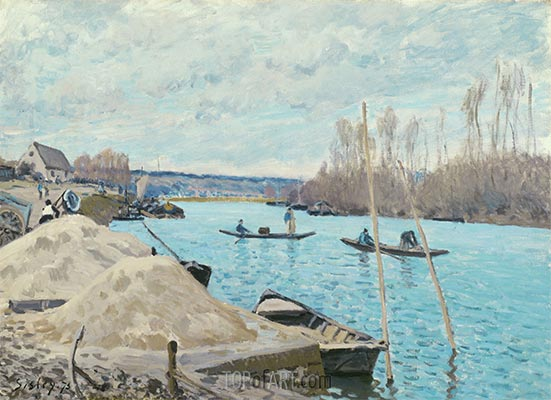 Sand Heaps, 1875 | Alfred Sisley | Painting Reproduction
