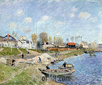 Sand on the Quayside, Port-Marly, 1875 | Alfred Sisley | Painting Reproduction