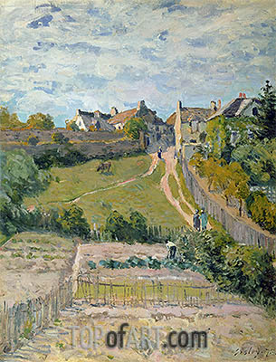 The Rising Path, 1875 | Alfred Sisley | Painting Reproduction